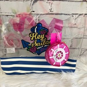 """Betsey Johnson """"Hey Sailor"""" Clear PVC Tote"""